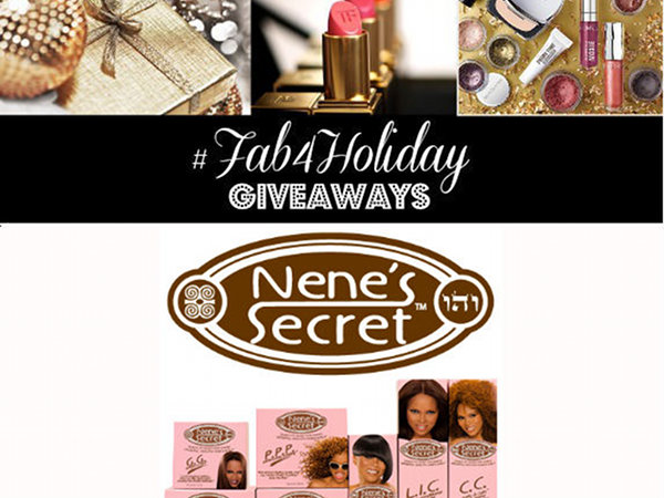 #Fab4Holiday Day 16: Win 1 of 4 Sets of Nene's Secret Hair Products