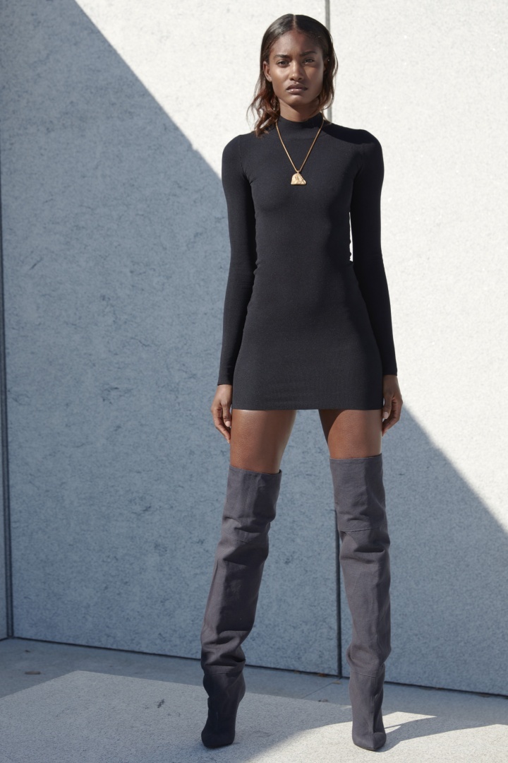 yeezy-season-4-black-sweater-dress-thigh-high-boots-nyfw-glamazonsblog