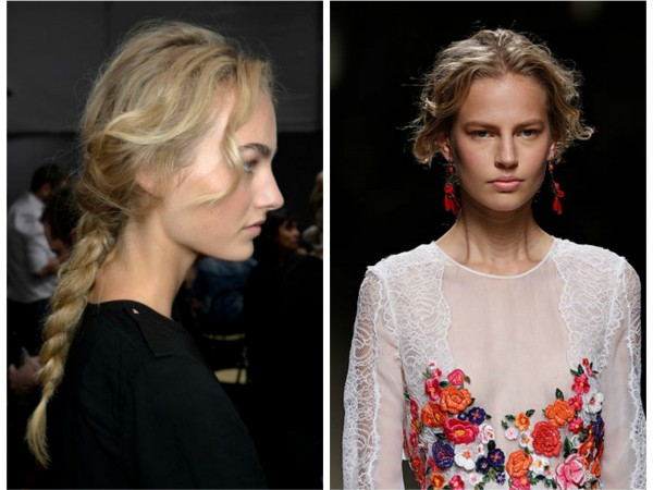 #MFW Backstage Beauty: Alberta Ferretti Spring 2014- Messy Braid