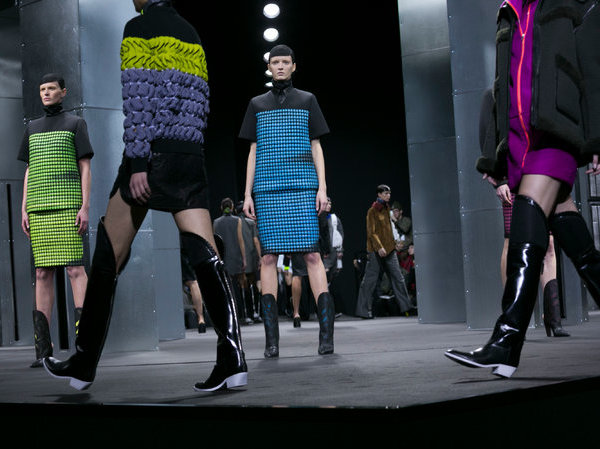 #NYFW: Combovers, Bleached Brows and Neon Splashes at Alexander Wang