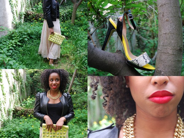 What I Wore: Just Fab 'Cartagena' Snakeskin Yellow Sandals
