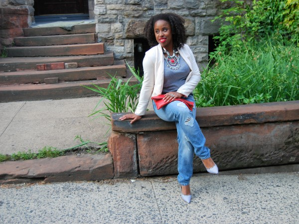 What I Wore: Tribal Beads and Boyfriend Jeans