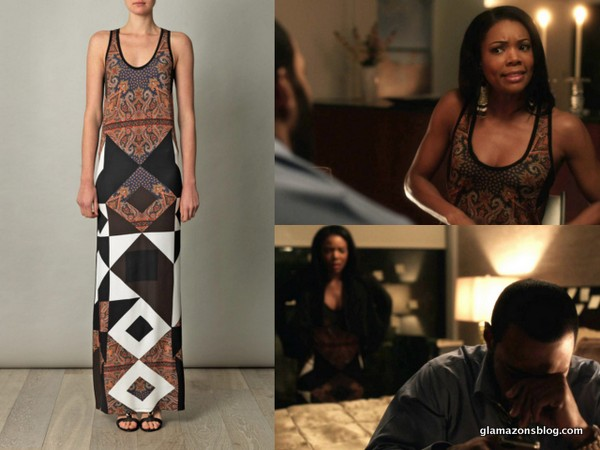 Being Mary Jane Fashion Recap: Givenchy Scarf Print Tank Maxi Dress