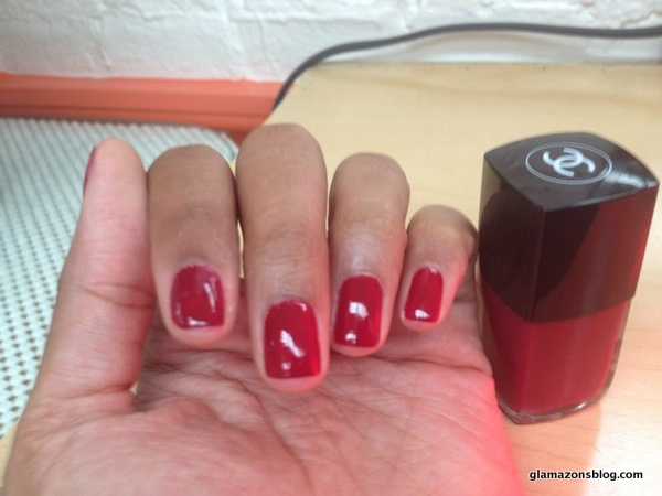 My Super Cute Mani: Chanel Lotus Rouge - Glamazons Blog