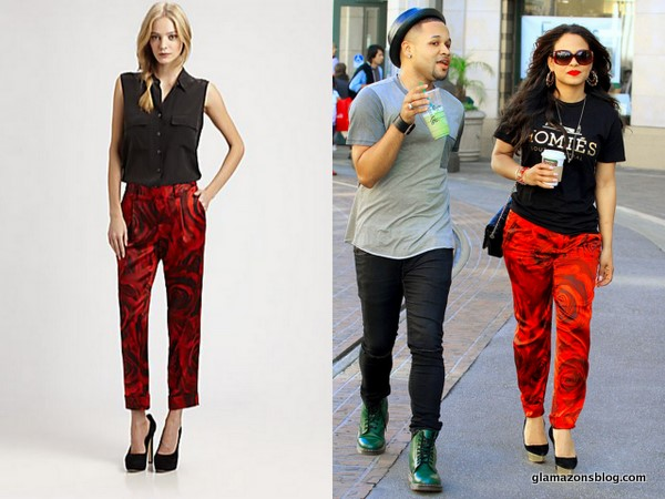 Ask The Glamazons: Find Christina Milian's alice + olivia 'Arthur' Silk Rose Pants