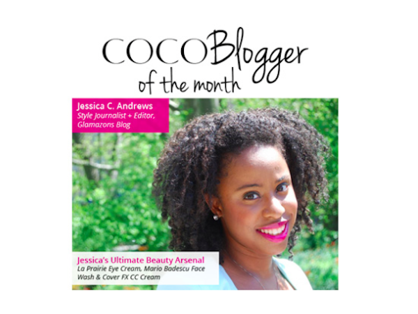 Glamazon Jessica is Cocotique's COCOBlogger of the Month!