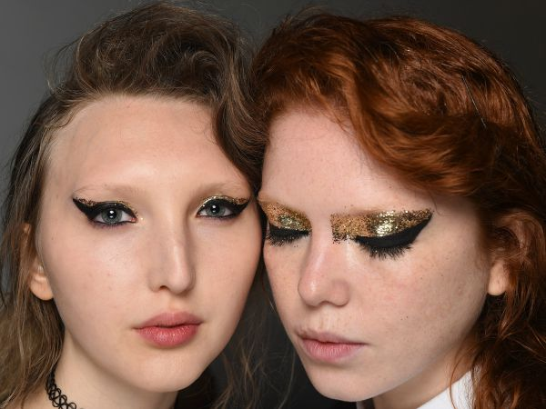#NYFW Beauty: Gold Glitter Eyeshadow at Creatures of The Wind @NARSissist