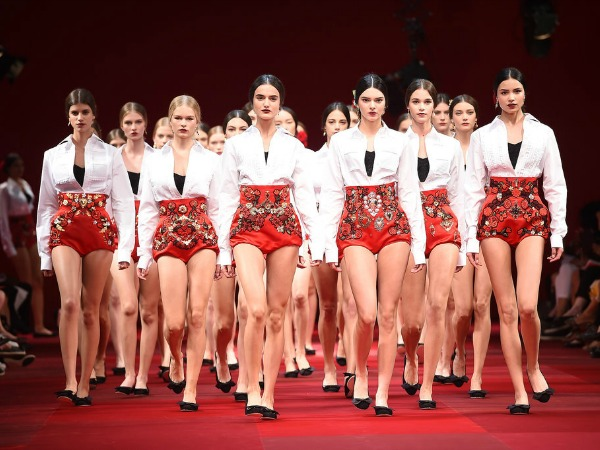 #MFW: Spanish Flamenco Skirts and Cherry-Stained Lips at Dolce & Gabbana