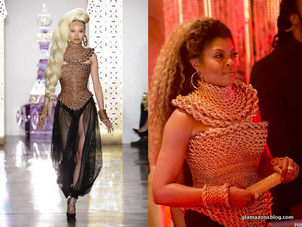 #Empire Fashion Recap: Cookie's Versace Gold Suit and @TheBlondsNY Metal Corset