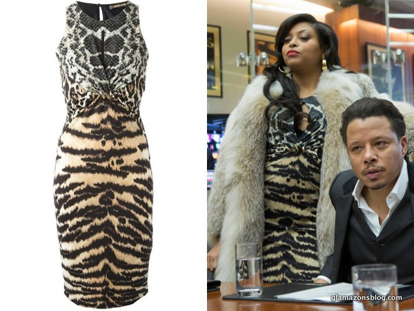 empire-fox-fashion-cookie-lyons-taraji-p-henson-roberto-cavalli-printed-dress-glamazons-blog