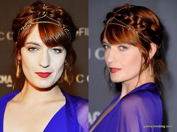 Get The Look: Florence Welch's Boho Chic Braided Updo at the LACMA 2012 Art Film Gala