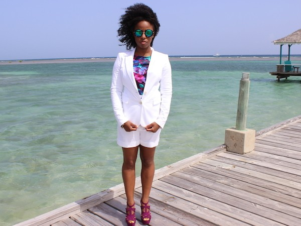 What I Wore: The Short Suit in Jamaica #GlamazonTravel