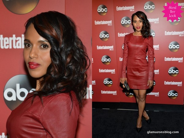 Look For Less: Kerry Washington's ABC Upfronts Marc by Marc Jacobs Leather Dress and Lanvin Mirror Heels