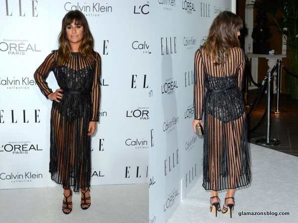 GLAM OR SHAM?: Lea Michele's ELLE Women in Hollywood Celebration Zimmermann Barely There, Sheer Black Dress