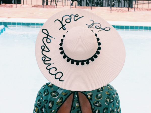 "My ""Jet Set Jessica"" Floppy Hat and 10 Beach Accessories You Can Personalize"