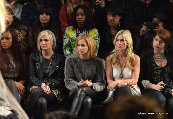 #NYFW: Nicole Miller Fall 2013 with Eve and Ashlee Simpson