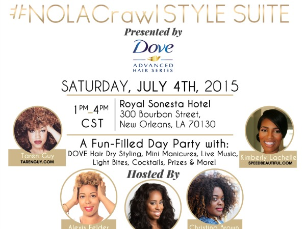 Join @StyleInfluencer for the #NOLACrawl Style Suite Presented by @Dove