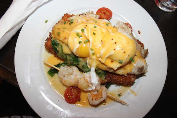 ruby-slipper-catfish-cheesy-grit-cakes-poached-eggs-sauteed-spinach-tomatoes-shrimp-creole-mustard-hollandaise-new-orleans-brunch-glamazons-blog-2