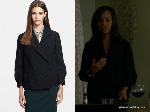 Scandal Fashion Recap: Olivia Pope's Armani Blazer and Burberry Jacket