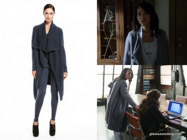 Scandal Fashion Recap: Olivia Pope's Donna Karan Draped Coat and Giorgio Armani One-Button Jacket