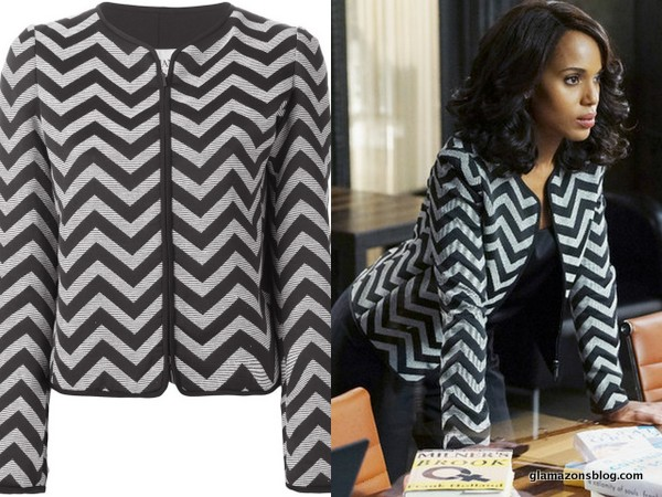 #Scandal Fashion Recap: Olivia Pope's Armani Chevron Jacket and St. John Wedding Look