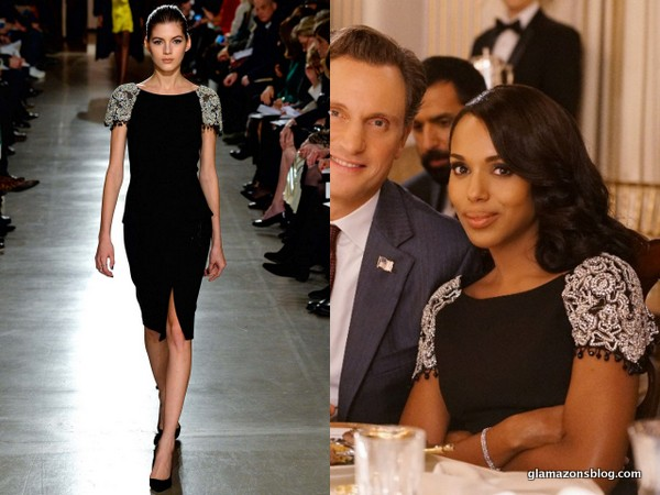 #Scandal Fashion Recap: Olivia Pope's Oscar de la Renta Fall 2015 Embellished Dress
