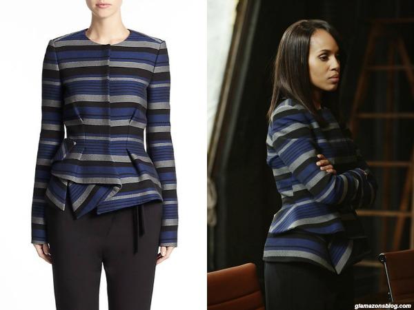 #Scandal Fashion Recap: Olivia Pope's Proenza Schouler Stripe Peplum Jacket