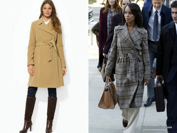 Scandal Fashion Preview: Olivia Pope's Ralph Lauren Black Label Pre-Fall 2013 Plaid Coat