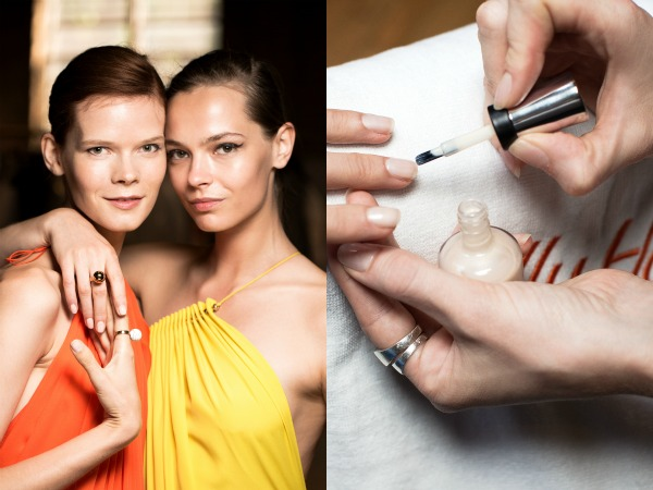 Beauty Crush: Metallic Nude Nails at Stella McCartney Resort 2016 @SallyHansen