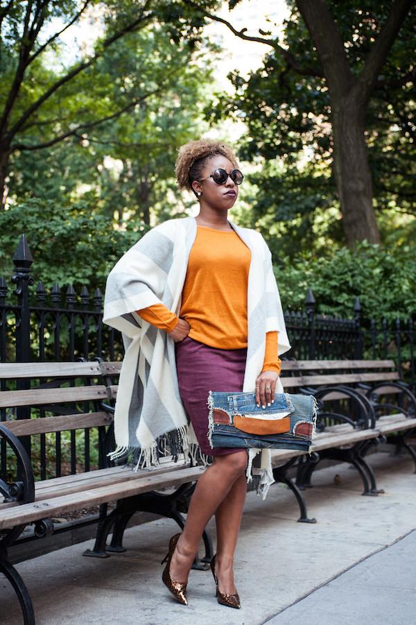 street-style-poncho-denim-patchwork-clutch-leopard-pumps-plum-lipstick-jessica-c-andrews-glamazons-blog