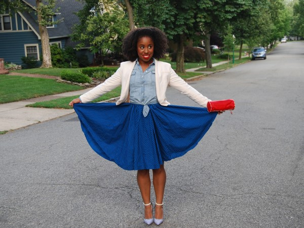 What I Wore: Red, White and Blue