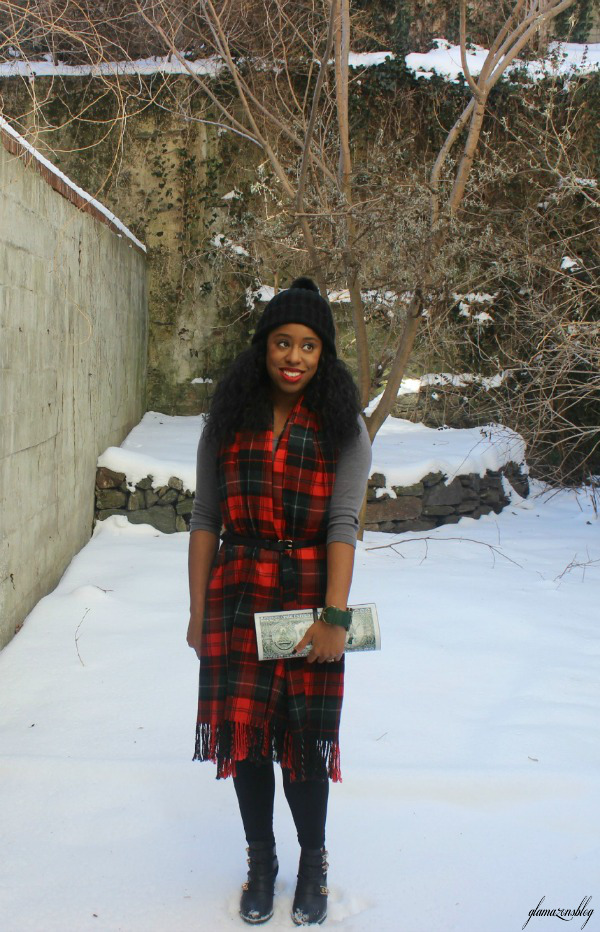 street-style-snow-belt-wrapped-around-scarf-plaid-scarf-patricia-field-money-clutch-beanie-hat-just-fab-zyree-glamazons-blog-19-edit-2