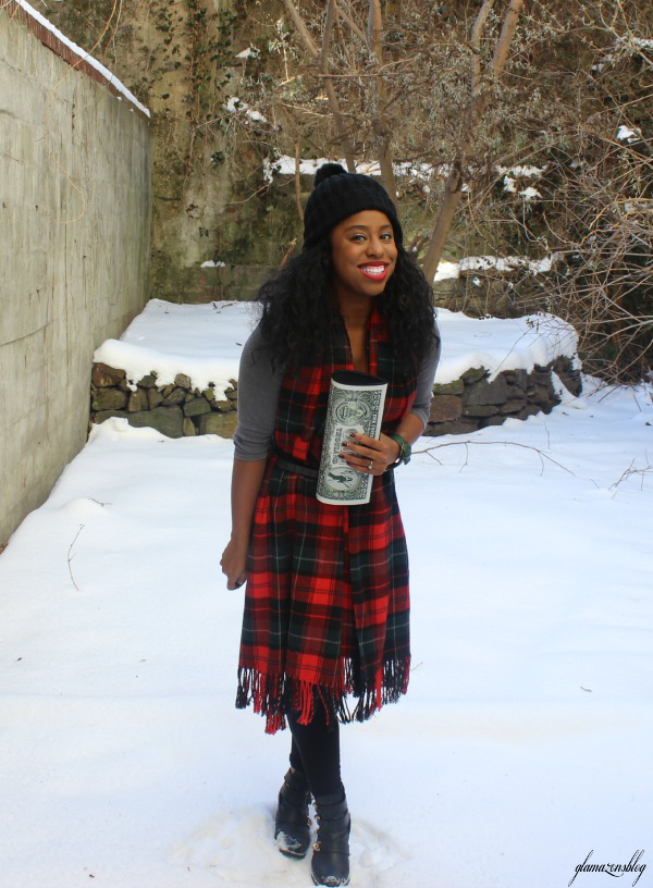 street-style-snow-belt-wrapped-around-scarf-plaid-scarf-patricia-field-money-clutch-beanie-hat-just-fab-zyree-glamazons-blog-22