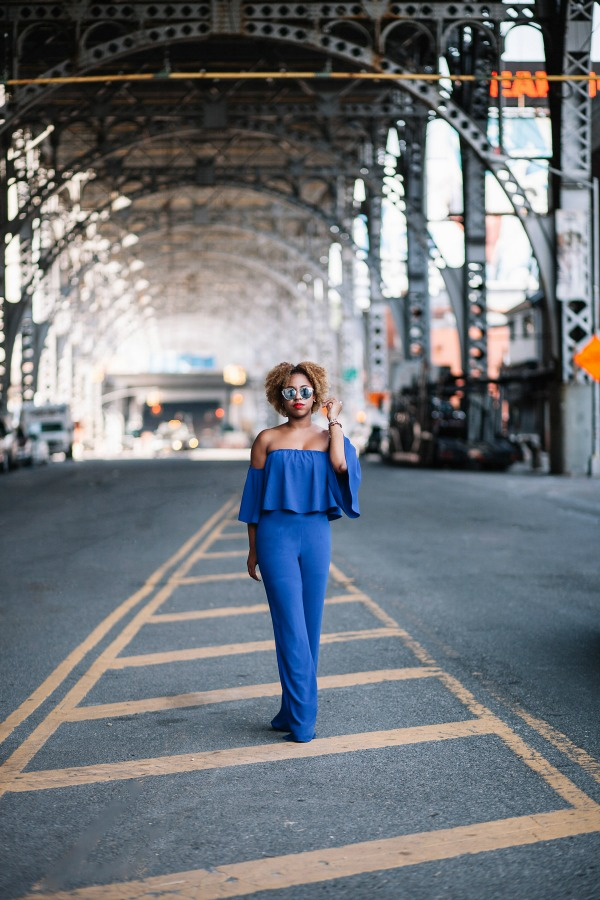 street-style-zara-off-shoulder-blue-jumpsuit-christian-louboutin-leopard-sandals-missguided-mirrored-silver-sunglasses-jessica-c-andrews-glamazons-blog