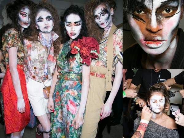 #LFW Backstage Beauty: Vivienne Westwood Red Label — Makeup by MAC, Hair by Toni&Guy