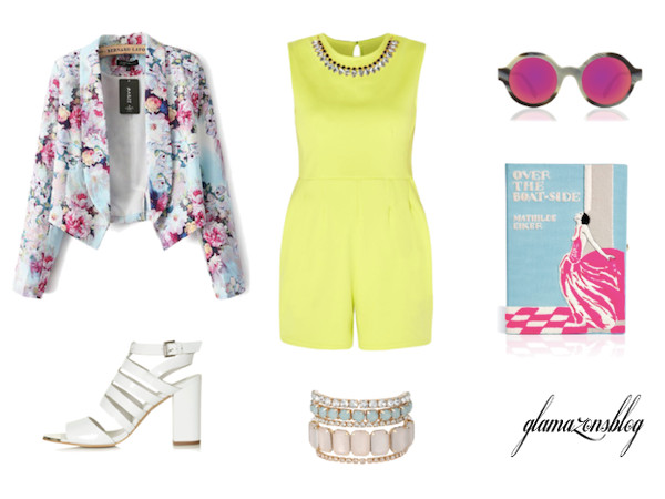 Outfit of the Day: Dress Up a Romper With a Blazer and Heels