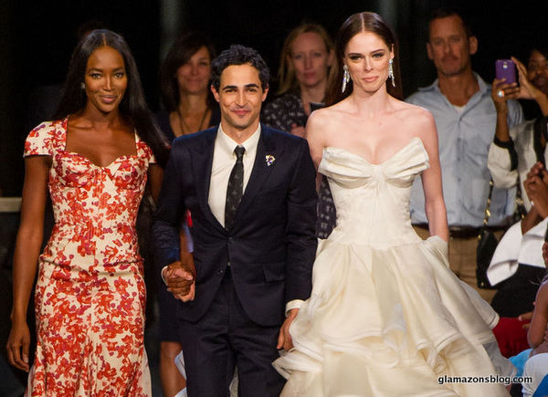 #NYFW: Zac Posen Spring 2013 with Naomi Campbell, Alek Wek, Coco Rocha and Sessilee Lopez